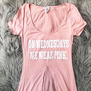 """On Wednesday We Wear Pink"" Long T-shirt"
